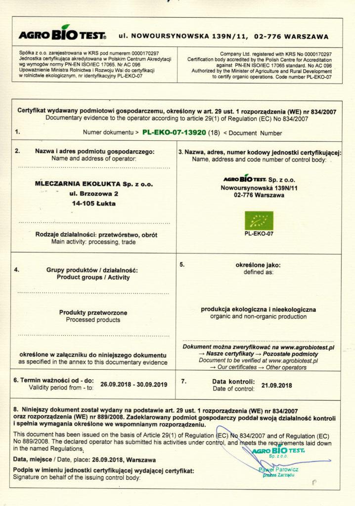 certyfiktat