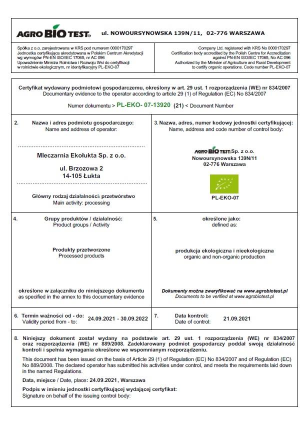 Certyfikat eko 2021 str1