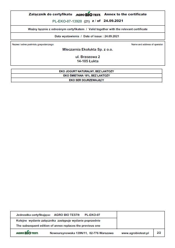 Certyfikat eko 2021 str3